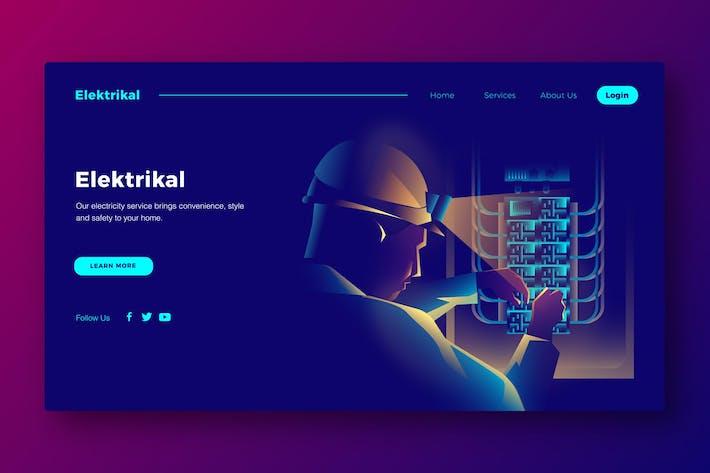 Thumbnail for Elektrikal - Banner & Landing Page