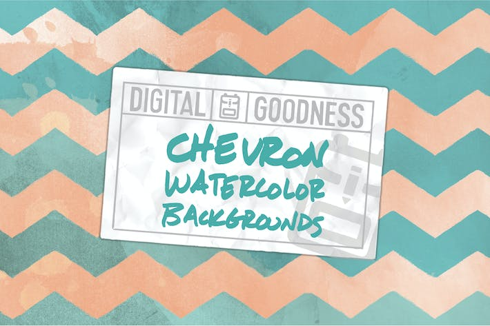 Thumbnail for Watercolor Chevron Backgrounds
