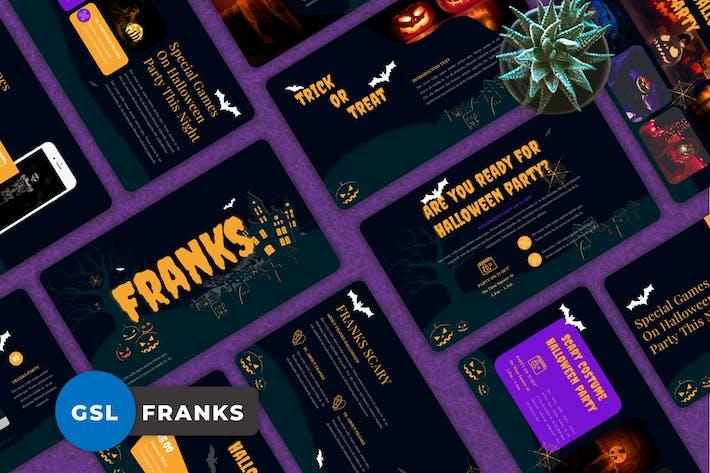 Thumbnail for Franks - Halloween Googleslide Templates