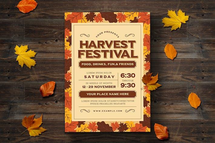 cover image for harvest festival flyer