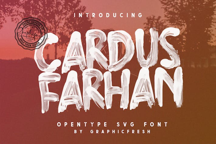 Cover Image For Cardus Brush SVG Font