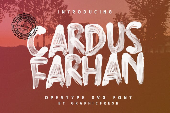 Thumbnail for Cardus Brush SVG Font