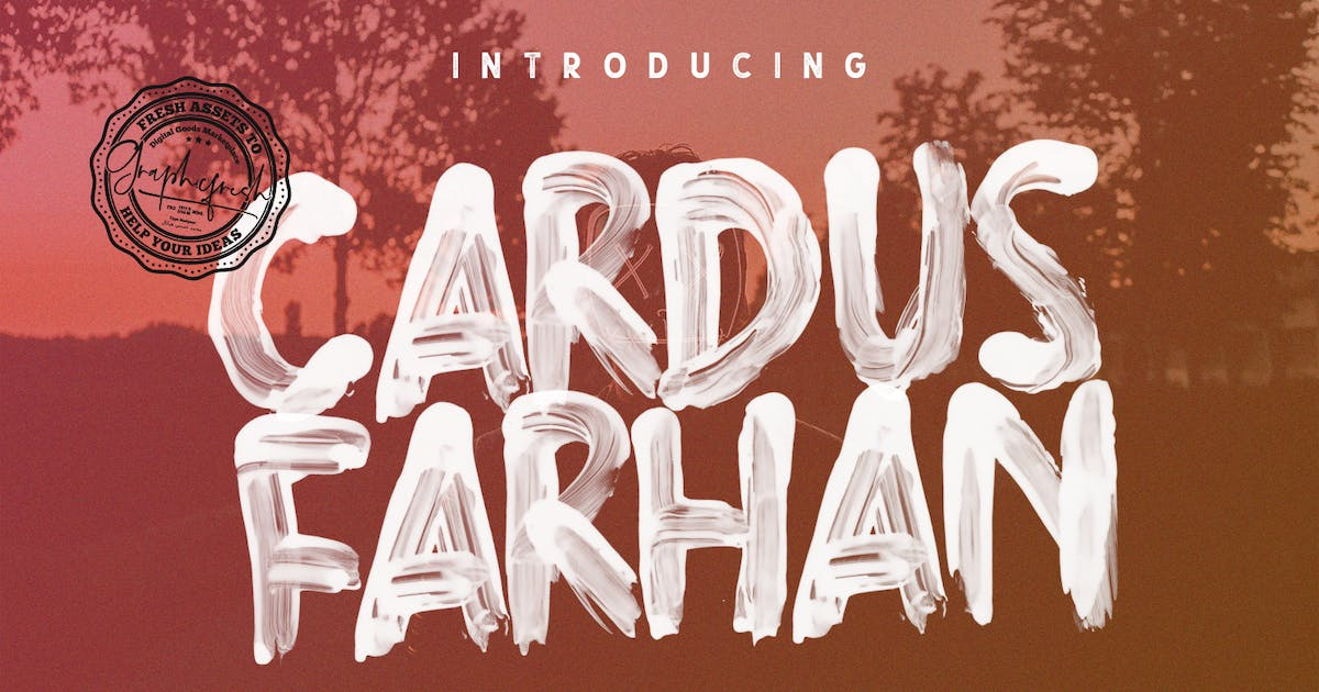 Cardus Brush SVG Font by sameehmedia