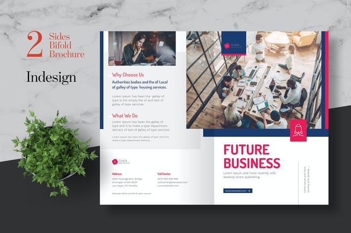 Cover Image For Clean Startup Bifold Brochure