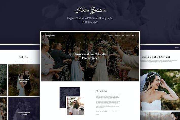 Thumbnail for Helen - Elegant Wedding Photography PSD Template