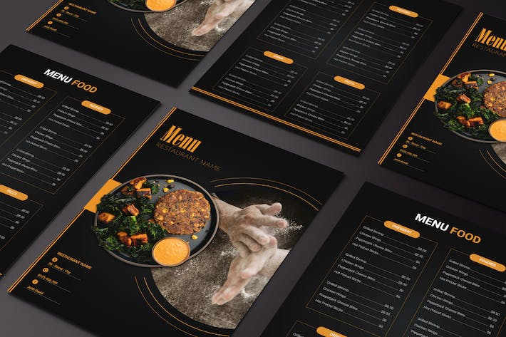 Thumbnail for Menu Food Two Sided Menu List Template