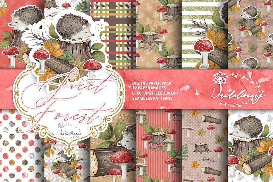 Sweet Forest digital paper pack