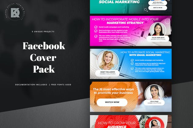 Webinar Facebook Cover Pack - product preview 0