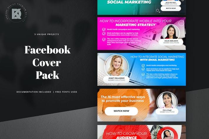 Thumbnail for Webinar Facebook Cover Pack