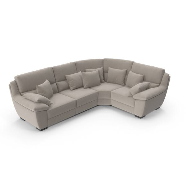 Velvet Corner Sectional Sofa