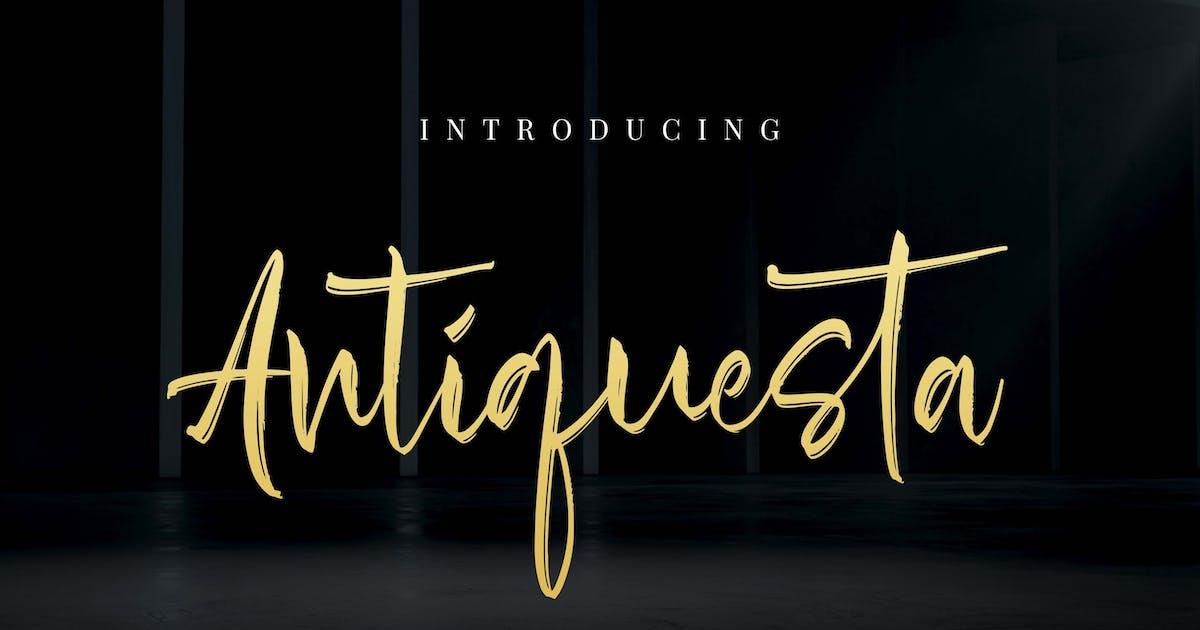 Download Antiquesta - Brush Signature by Alterzone