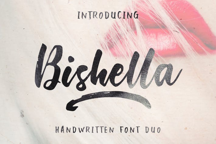 Thumbnail for Bishella Font Duo