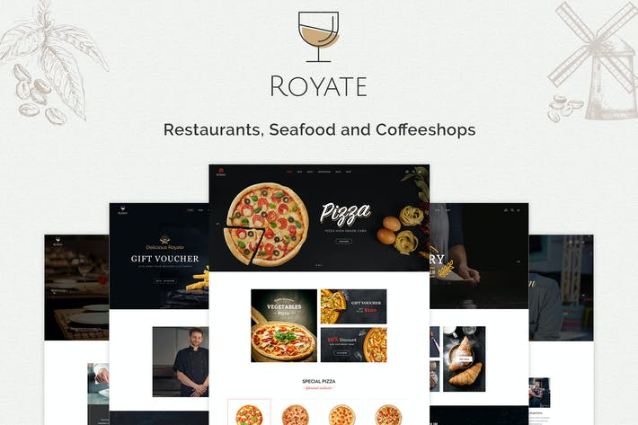 Thumbnail for Royate | Restaurant Template