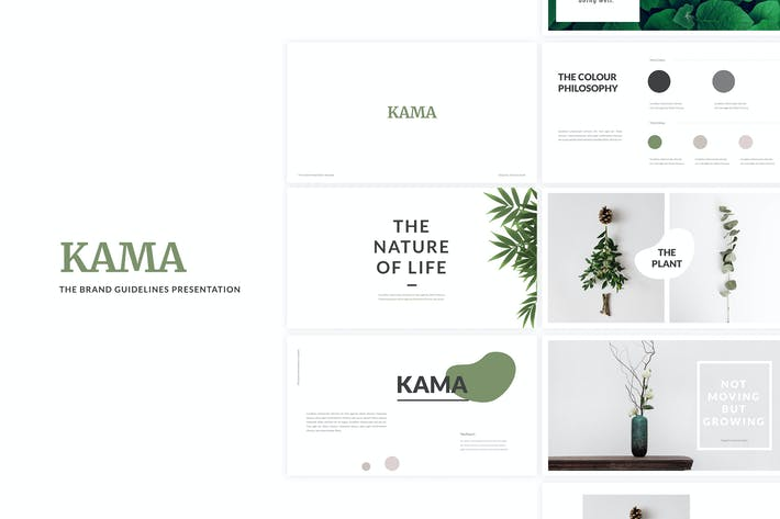 Thumbnail for Kama - Brand Guidelines Powerpoint