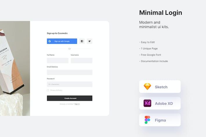 Mytemp - Modern & Clean Login Page
