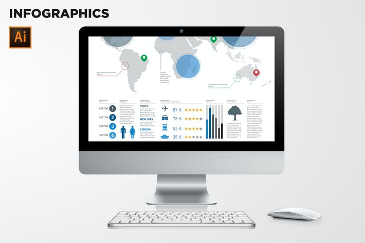 Thumbnail for Vector Infographic Elements Vol.04