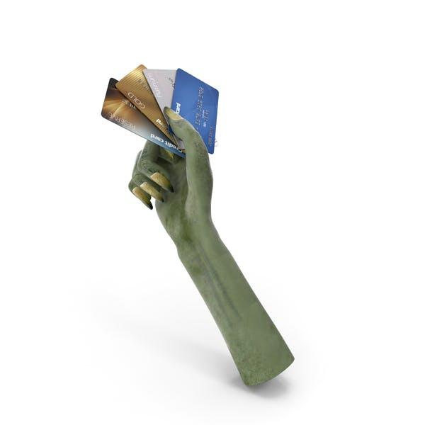 Kreatur Hand hält Kreditkarten