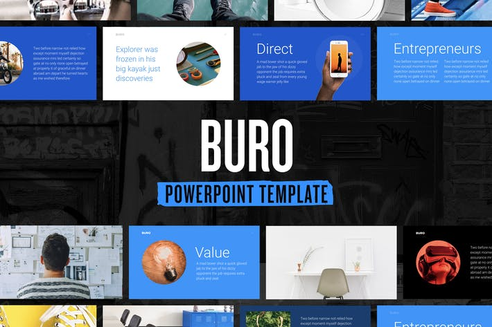 Thumbnail for Buro — Powerpoint Presentation Template