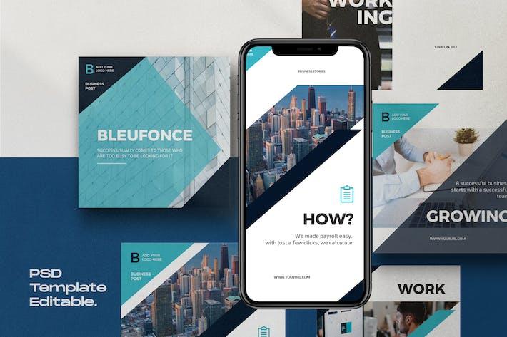 Thumbnail for Bluefonce Pack 2- Unternehmens- Social Media Kit