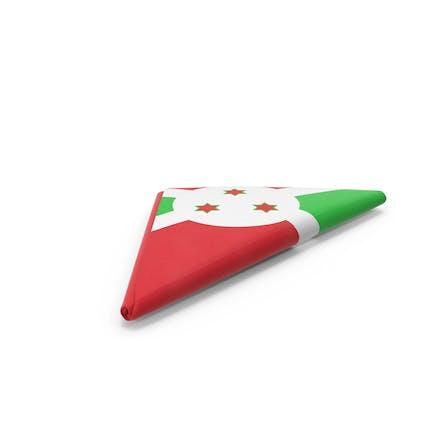 Flagge gefaltet Dreieck Burundi