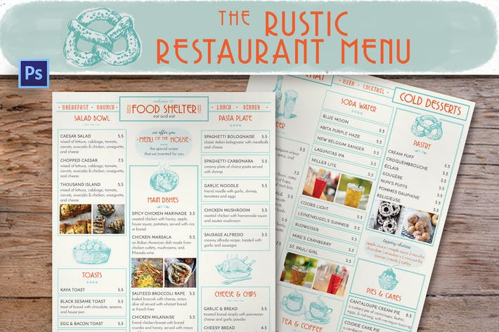 Thumbnail for Rustic Restaurant Menu