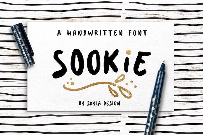 Thumbnail For Cute Handwritten Font Sookie