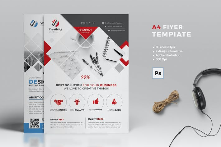 Cover Image For A4 Business Flyer Template