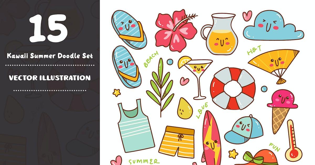 Download Kawaii Summer Doodle Set by GoDoodle