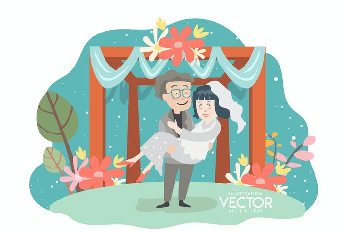 Wedding - Vector Illustration