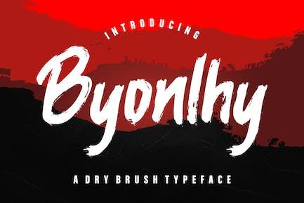 Byonlhy Dry Brush Tipo de letra