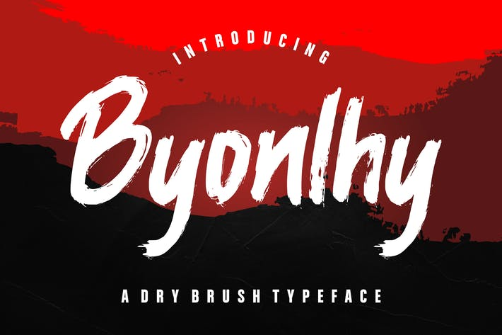 Thumbnail for Byonlhy Dry Brush Typeface