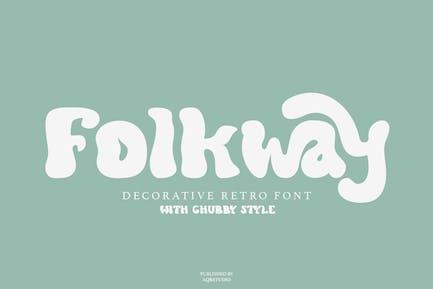 Folkway - Decorative Retro Font