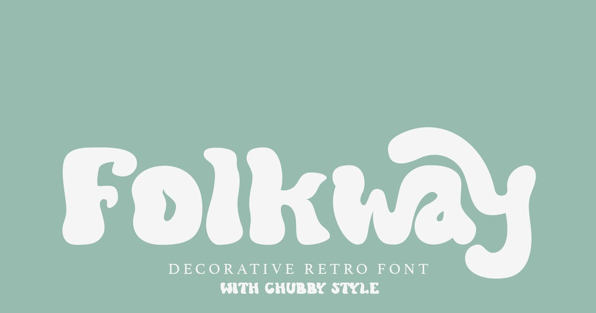 Download Folkway - Decorative Retro Font by aqrstudio