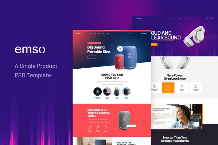 Thumbnail for Emso - A Single Product PSD Template