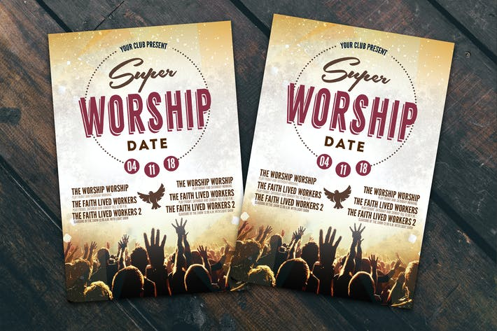 Thumbnail for Worship Date Flyer Poster