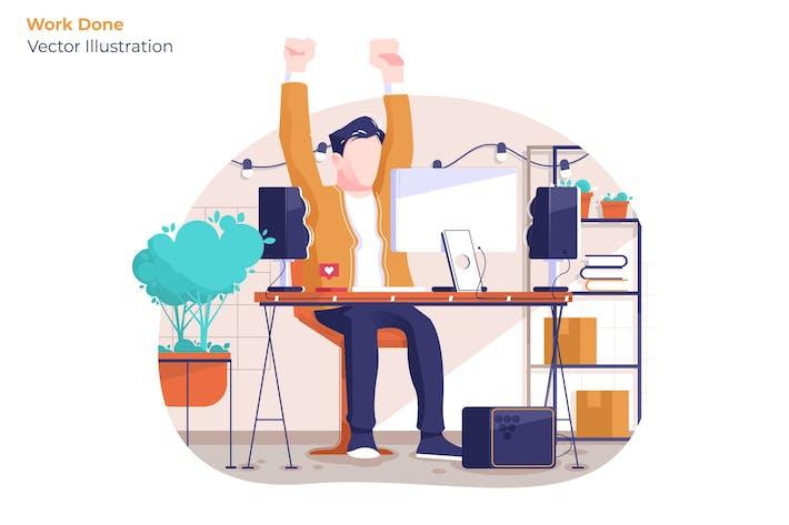 Work Done - Vector Illustration