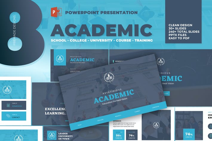 Thumbnail for Academic - University School Powerpoint