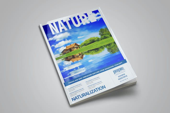 Thumbnail for Nature Magazine Template