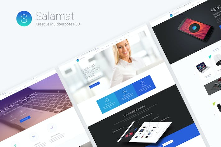 Thumbnail for Salamat - Multi-purpose Top Notch PSD Template