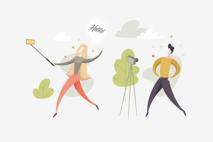 Thumbnail for Vlog & Blog IllustrationsVektor
