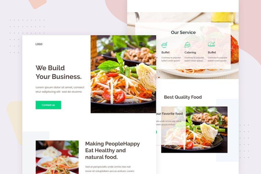 Online Food Ordering - Email Newsletter