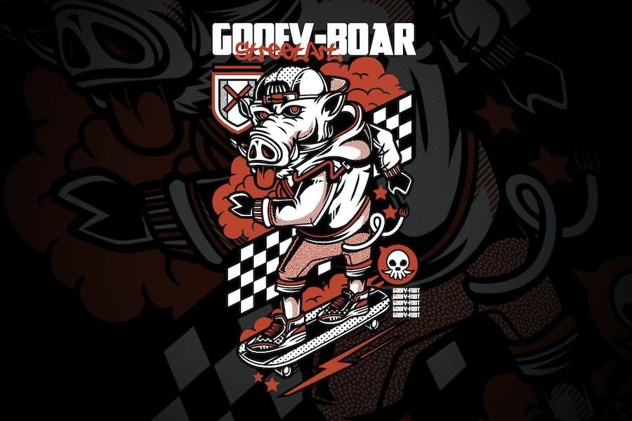 Goofy Boar