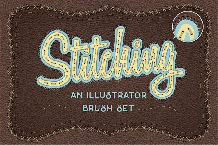 Thumbnail for Illustrator Stitch Brushes