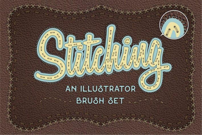 Cover Image For Illustrator Stitch Brushes