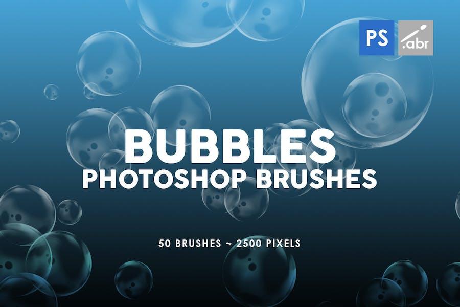 50 Bubble Photoshop Stamp Brushes