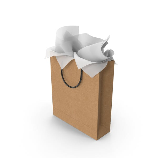 Craft Shopping Bag Tall with White Gift Paper