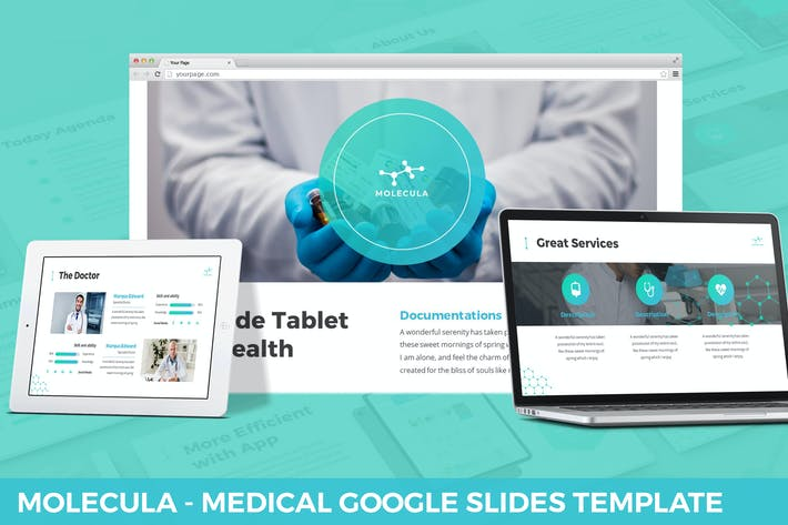 Thumbnail for Molecula - Medical Google Slides Template