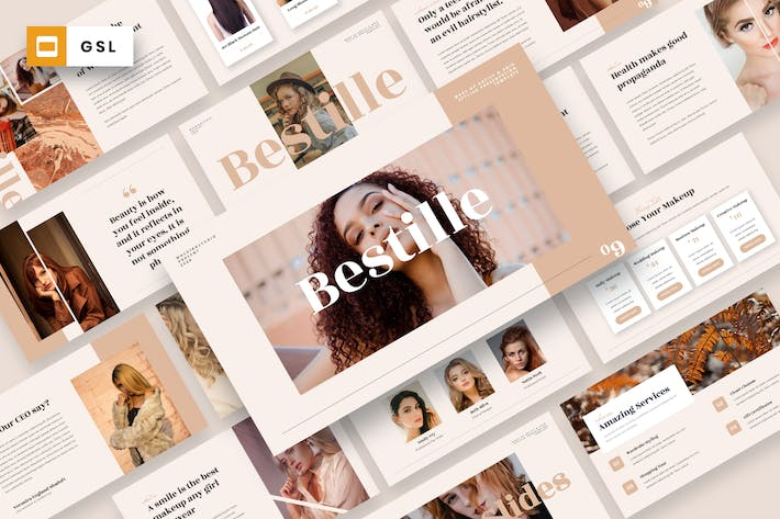 Thumbnail for Bestille - Make Up Artist Google Slides Template