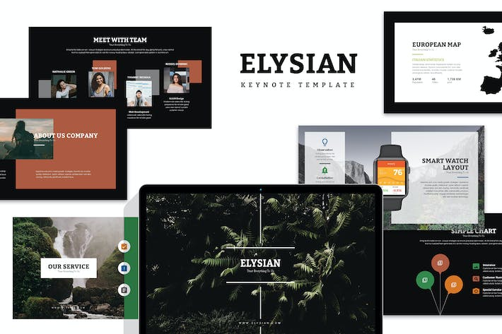 Thumbnail for Elysian : Nature Lookbook Keynote
