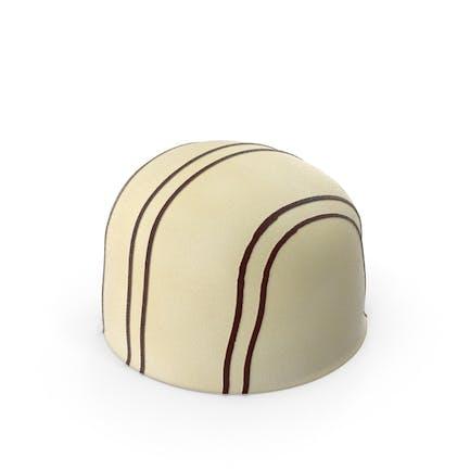 Бонбон из белого шоколада в полоску